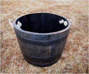 プランター(ウイスキー廃樽の再利用)