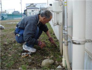 低木選定・草刈り作業
