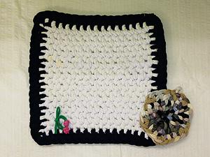 指編みマット・鍋敷き