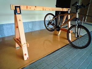 木製サイクルラック