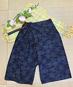 織りひも付き スカーチョ