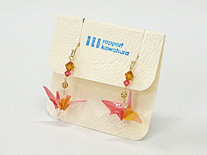 折鶴のピアス・イヤリング